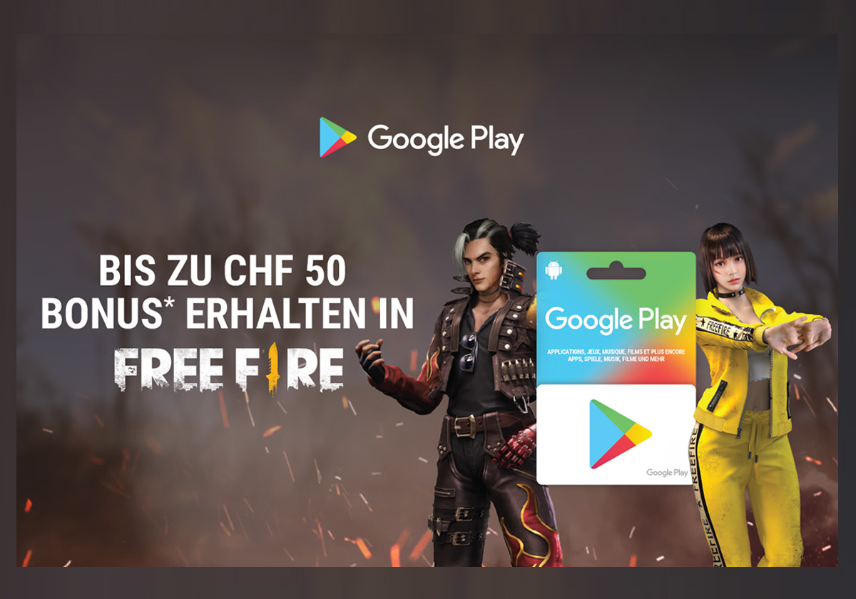 Google Play - Free Fire Bonus